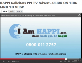 TV Screen Shot of HAPPI Solicitors